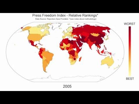 Press Freedom Index Relative Rankings 2003-2016