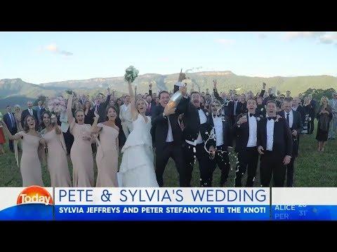 Sylvia Jeffreys and Peter Steovic's wedding