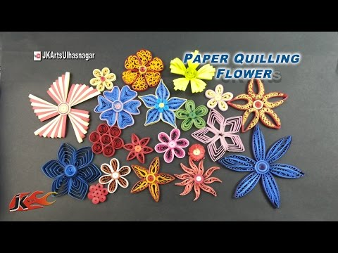 20 Paper Quilling Flowers Tutorial | How to make | JK Arts 922