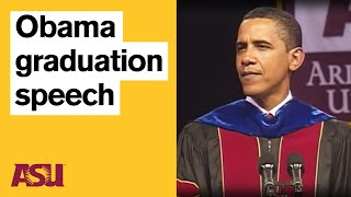 Obama at ASU: Commencement Speech with intro by Michael Crow thumbnail
