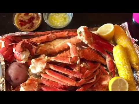 Colossal Seafood Mukbang: 4 Pds of King Crab Legs, Alaskan Snow Crabs and Lobster Tails - YouTube