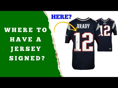 Where is the Best Location on a Jersey to Have it Signed?  - Baseball, Football, Basketball, Hockey