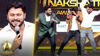 Fun Panrom VJ Siddhu's Hilarious Moments With Rio & RJ Vigneshkanth At Galatta Nakshatra Awards