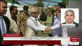 The caretaker prime minister, Justice Retired Nasirul Mulk, visit hometown mingora swat