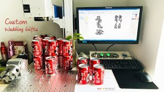 Custom Wedding Gifts Laser Engraving Machine for Coca Cola Aluminum Can Cover