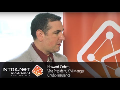 Intra.NET Reloaded Boston 2017: Interview with Howard Cohen, Chubb Insurance