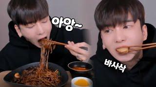 오랜만에 먹방!!! 쟁반짜장+군만두