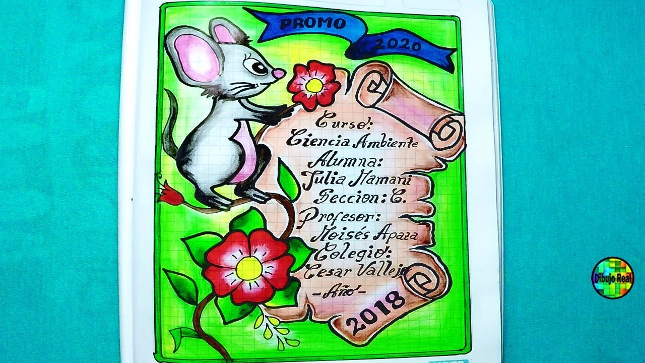 Dibujos Para Portadas De Cuaderno: Como Dibujar Carátulas Para El Cole Para Niñas