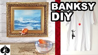 Making Banksy Goldfish Art from Epoxy Resin plus BONUS Girl with Balloon Pendant T-Shirt Tutorial