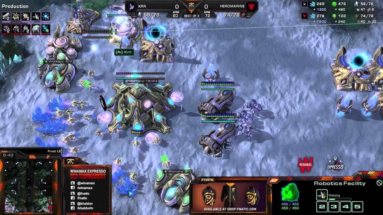 HeroMarine vs. Krr - Game 1 - Winamax Finals - StarCraft 2