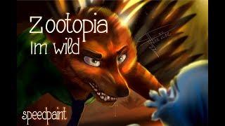 Im Wild  ( Zootopia speedpaint Nick and judy ) - } Foxiine {