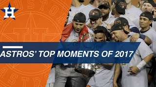 A look at the Astros' top moments of 2017