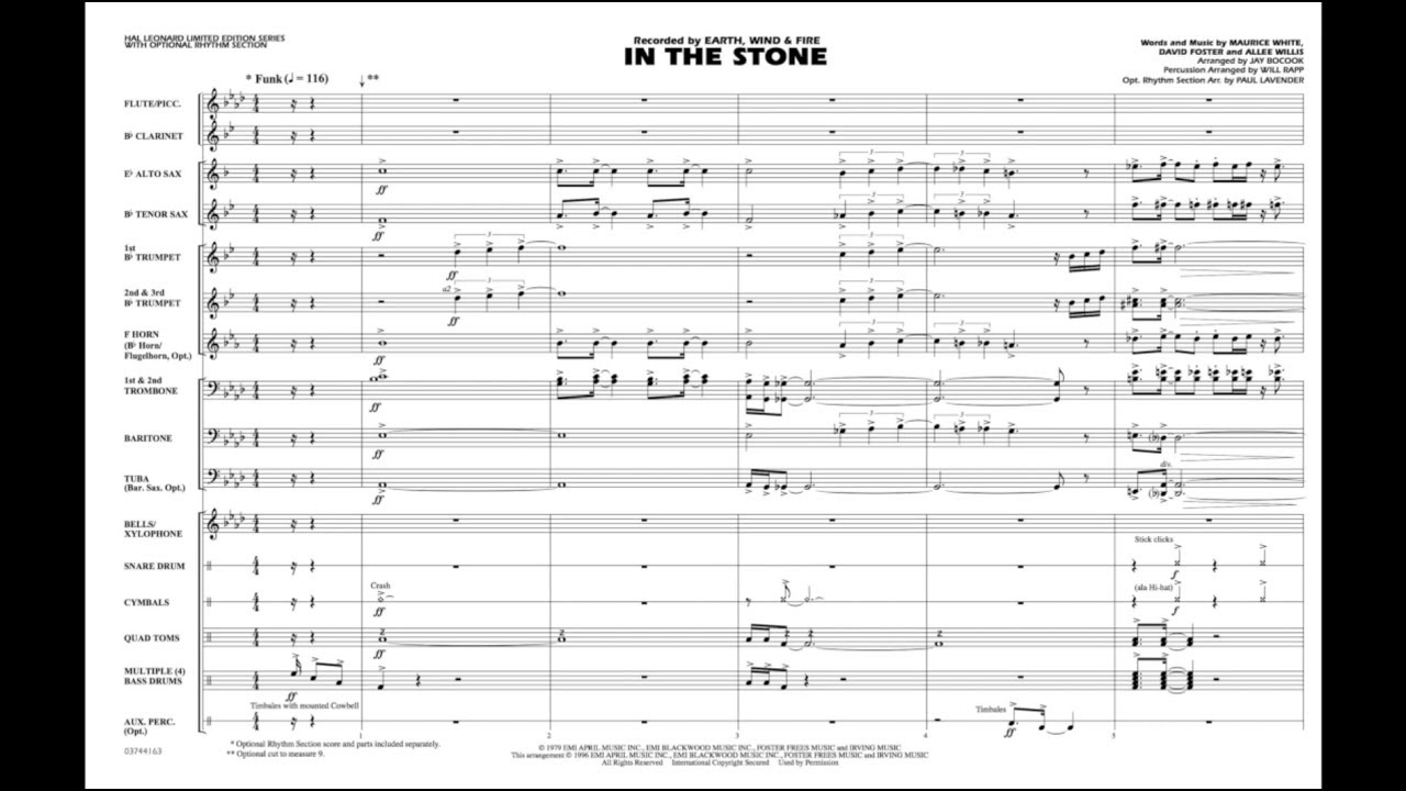In the Stone arranged by Jay Bocook