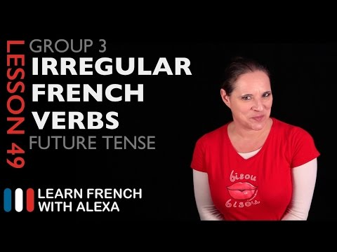 See in french future tense irregular verbs list