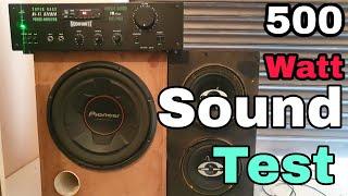 500w Amplifier Bass Test, 500 watt amplifier, Sound Test,  Subwoofer, Subwoofer Bass test