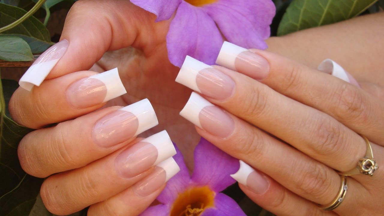 How To File Down Pink & White Nails. Pha Bot Nhanh Nhat. - YouTube