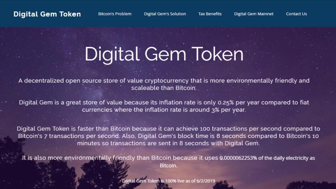Digital Gem Token