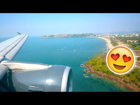 (Landing) GoAir A320 | Mumbai to Goa (HD)