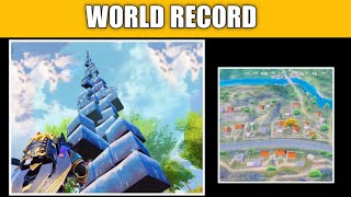 WORLD RECORD ICE WALL TOWER  PUBG MOBILE