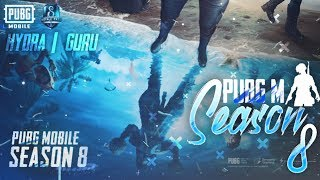 🔴PUBG MOBILE LIVE : SEASON 8 ROYAL PASS GIVEAWAY !giveaway | H¥DRA | GURU