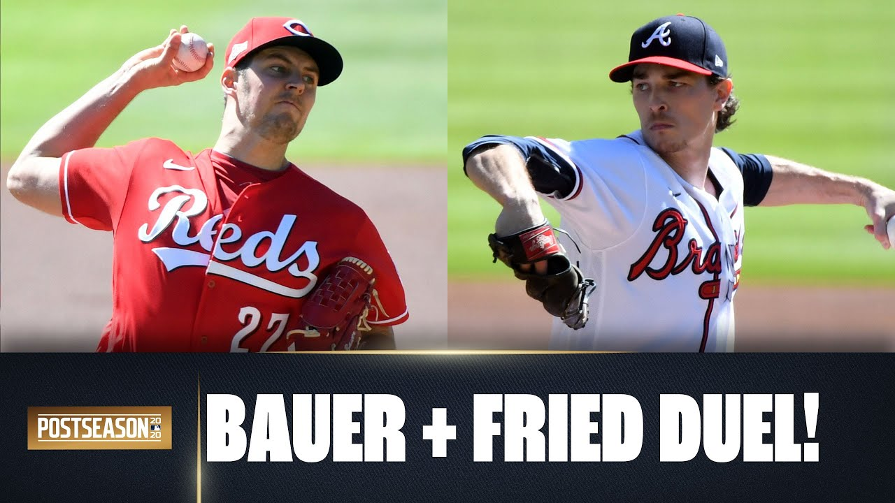 Reds Trevor Bauer and Braves Max Fried have INSANE pitching duel in Wild Card round Game 1!