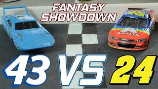 nascar jeff gordon vs richard petty   fantasy showdown 1 stop motion racing