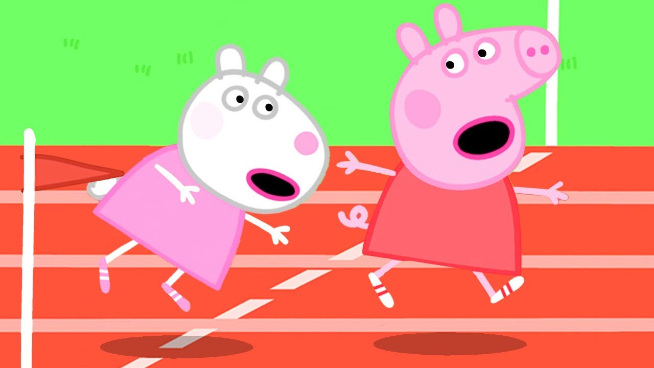 Peppa Pig Official Channel | Who Runs Faster? Peppa Pig or Suzy Sheep?