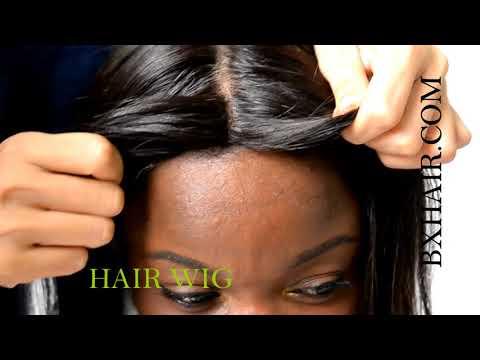 bxhair natural black long straight hair wig