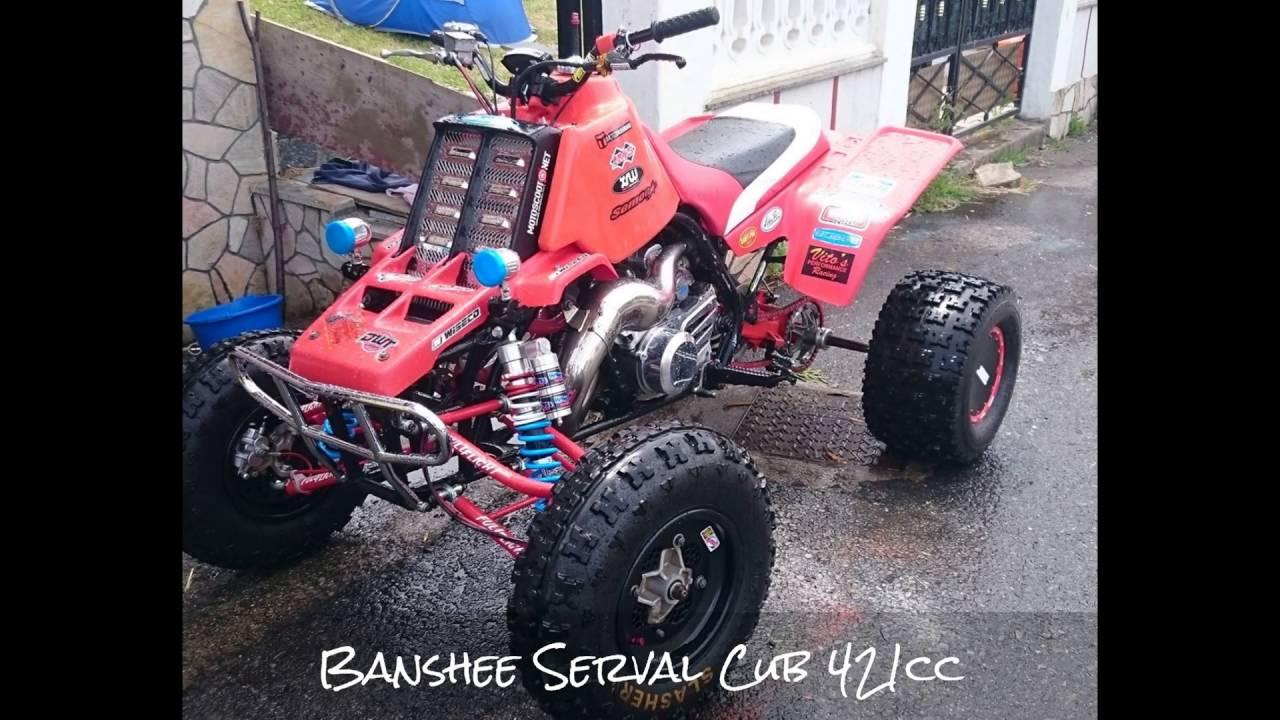 Banshee Serval 421 Revving Sound