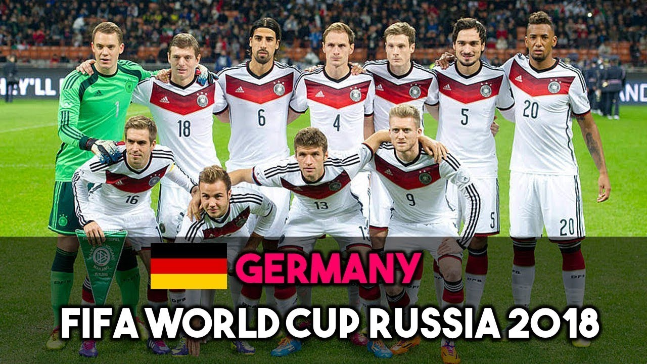 Germany Squad For Fifa World Cup Russia
