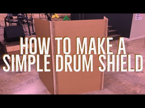 How To Make A Simple Drum Shield Youtube