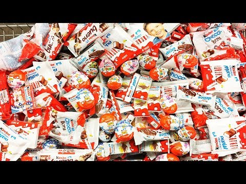 A Lot Of Candy Kinder Surprise Eggs and...