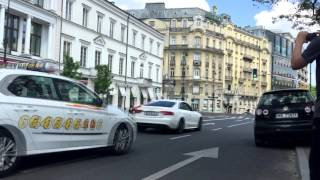 bmw pp performance m4 f82 600hp and mercedes cls 63 amg c218 by pp performance sounds in warsaw