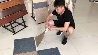 타일매트 10개세트 셀프타일시공 PVC 접착식 바닥타일