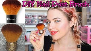 MAKE YOUR OWN GLITTER NAILS DUST BRUSH  HOW TO DECORATE YOUR NAIL BRUSH   IdleGirl