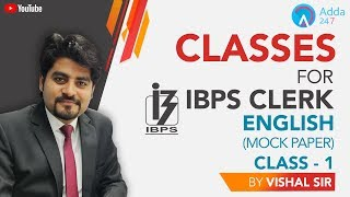 @Classes For IBPS Clerk | English-1 | Vishal sir | 4 PM