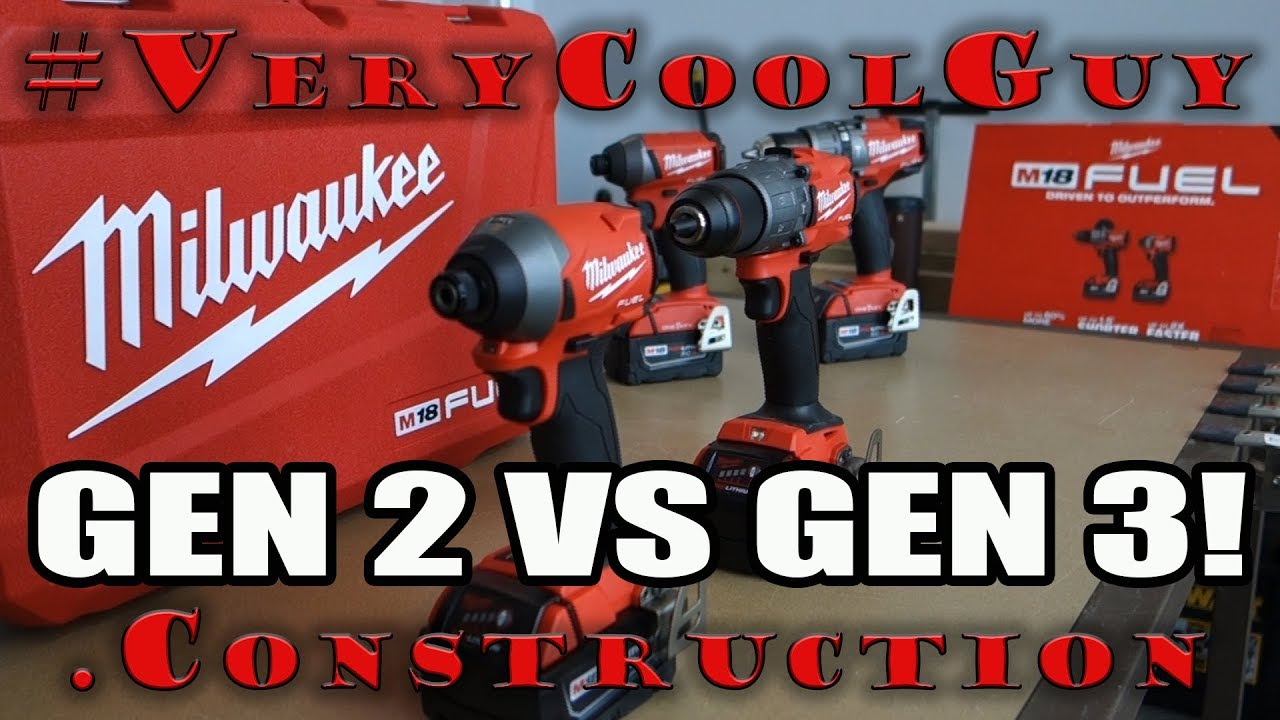 New Milwaukee M18 Gen 3 Combo Kit - Gen 2 VS Gen 3!