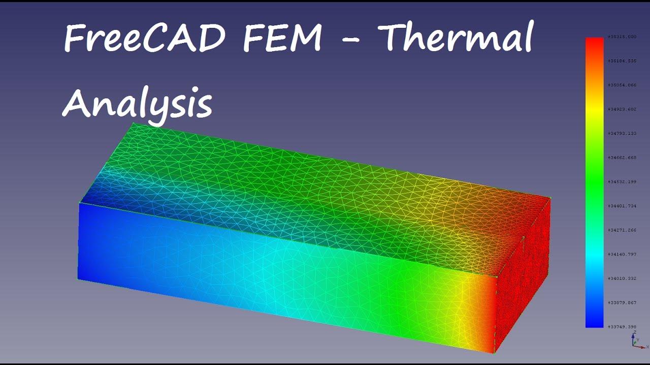 FreeCAD FEM Tutorial thermomechanic analysis of a bimetall strip