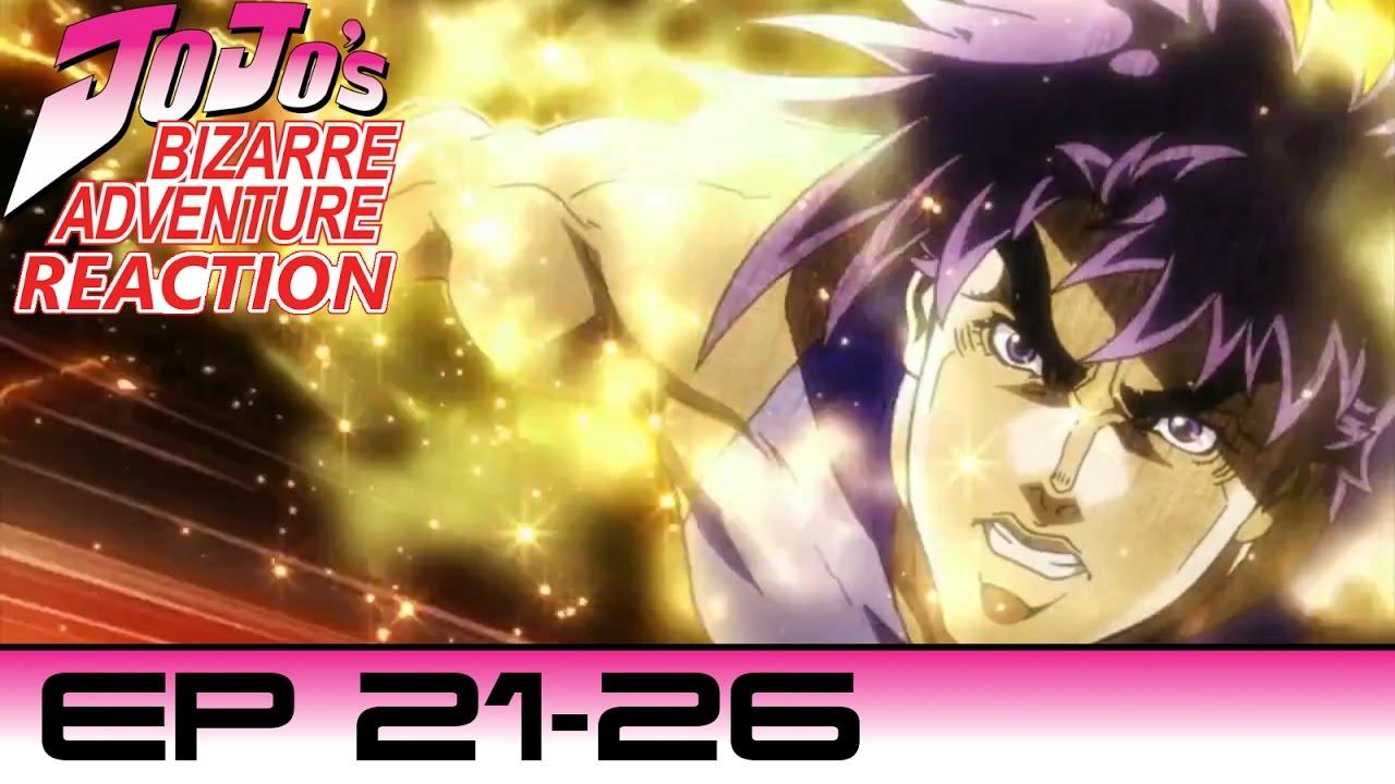Reaction to Jojo's Bizarre Adventure   Part 2   Ep 21-26   CHEATER!