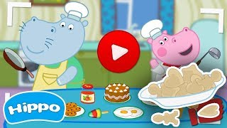 Hippo 🌼 Cooking show 🌼 Cookie Recipe 🌼 Cartoon game for kids