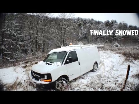 Quigley 4x4 Van Offroad Snow Driving 2016    Chevy Express 2500 HD   