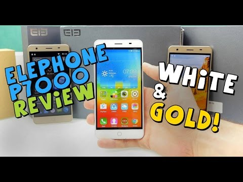 Elephone P7000 Review - Gold and White - MTK6752+  3GB + 4G - Flagship Killer Android 5.0/CM12 [4K]