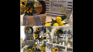 SUNFLOWER🌻 3TIERED TRAY WREATH DECORATE WITH ME 2019