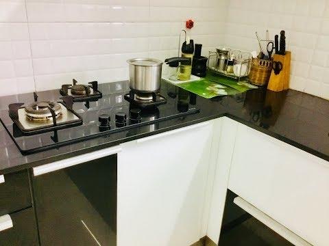 Kitchen designing ideas /An idea for fixing LPG cylinders in  modular kitchens / Kavitha Samayalarai