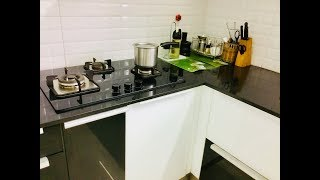 Kitchen designing ideas /An idea for fixing LPG cylinders in  modular kitchens / Kavitha Samayalarai