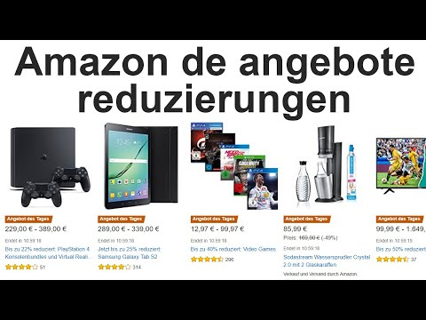 amazon de angebote reduzierungen bis 70 youtube. Black Bedroom Furniture Sets. Home Design Ideas