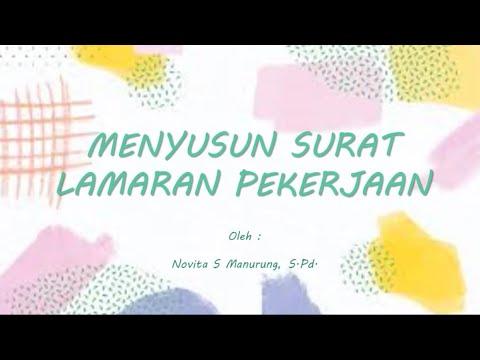 Menyusun Surat Lamaran Pekerjaan Bahasa Indonesia Pjj Youtube