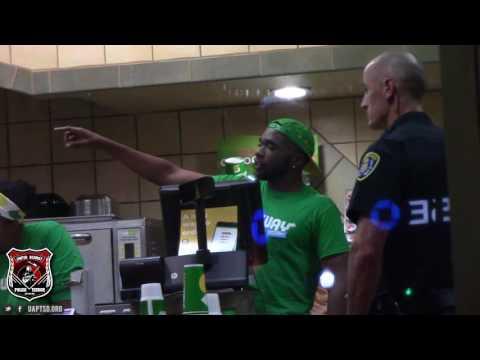Copwatch   Kids Locked Inside Subway for Stealing Chips   Multiple Cops Arrive