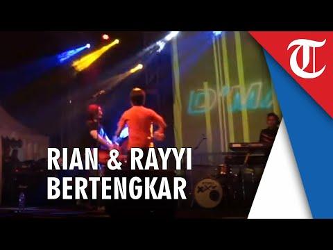 Video Detik-detik Rian dan Rayyi D'masiv Ribut di Panggung hingga Lempar Gitar