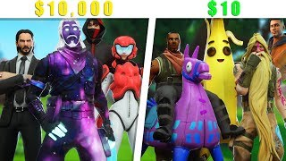 $10,000 Dollar Squad VS $10 Dollar Squad!!! - Fortnite Season 9